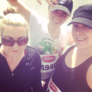 Christina (Left), Ashlie (center) and I (Right) before the race.